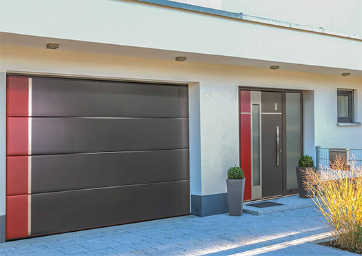 Matching Ryterna Garage and Entrance Doors