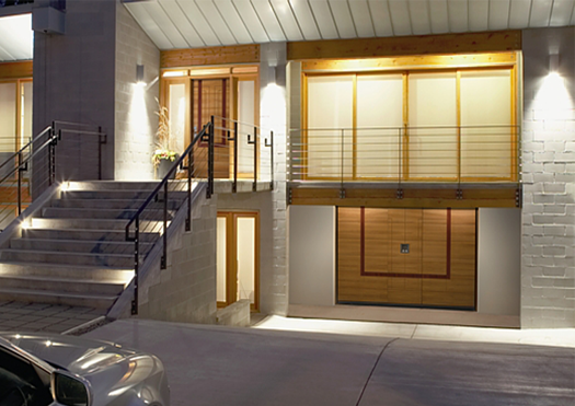 Silvelox Matching Garage and Entrance Doors