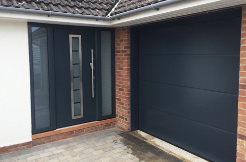 Matching garage and entrance doors
