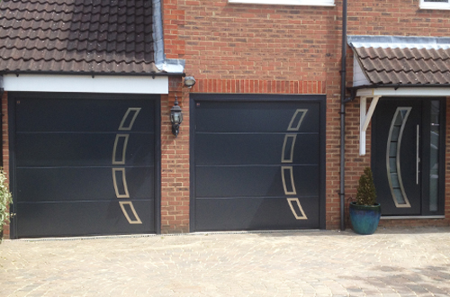 Thermo 65 matching entrance and garage doors