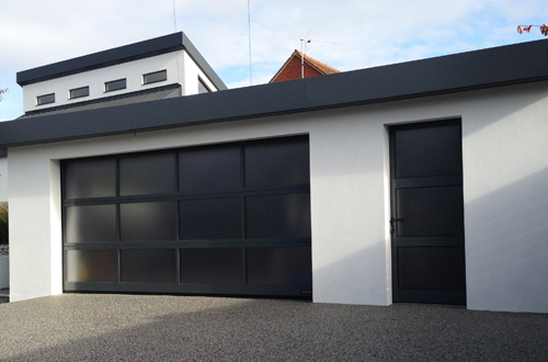 Matching garage entrance doors from the garage door centre uk for Garage windows for sale