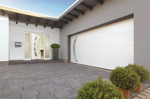 Matching Front Entrance and Garage Doors