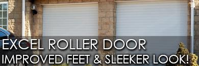 Excel roller garage door improved feet