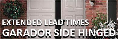 Extended lead times on Garador side hinged garage doors
