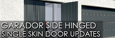 Garador side hinged single skin garage door updates for June 2021