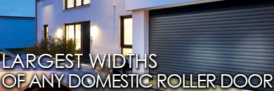 Largest widths of any domestic roller garage door - Hormann Rollmatic