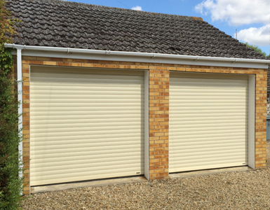 Aluminium, Insulated Roller Garage Door in Ivory
