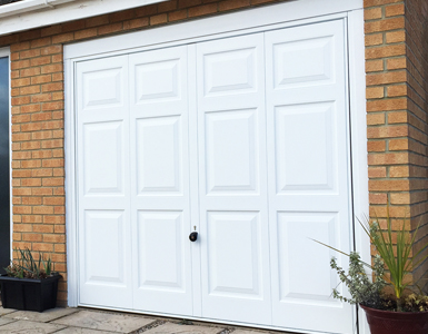 Hormann 2004 Up and Over Garage Door in White