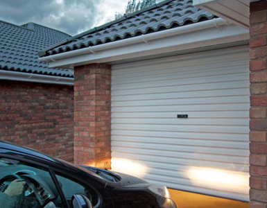 Manual, Steel, Single Skin Roller Garage Door in White