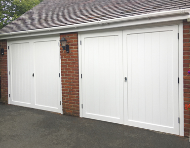 Traditional timber Side Hinged Garage Doors