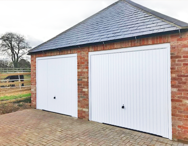 Steel Up and Over Garage Doors in White