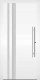 Ryterna White Entrance Door, Style 105 RD65