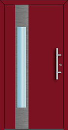 RD65 Ryterna front entrance door, style 110, window with aluminium decor