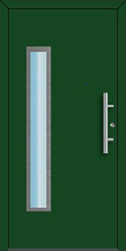 Ryterna RD65 112 front entrance door, green with vertical window