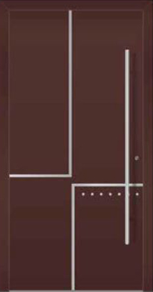 Ryterna RD80 RD100 Entrance Doors Ranges, Style 207 with stainless steel handle
