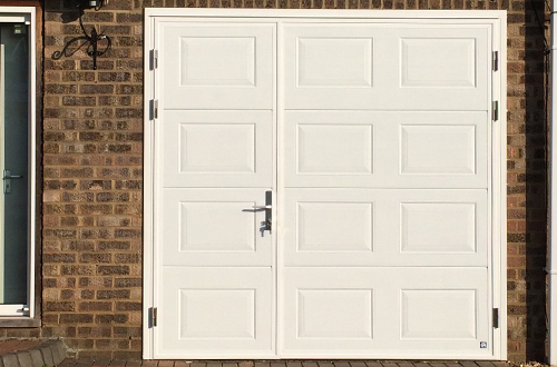 Ryterna White Side Hinged door, cassette panels 1/3 split