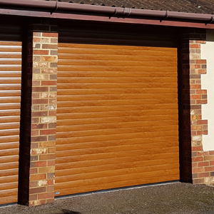 SeceuroGlide roller door with decograin finish