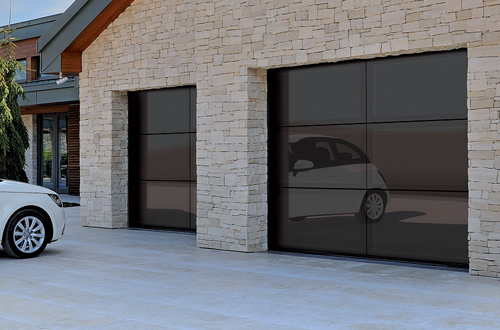 Glass Sectional Garage Door