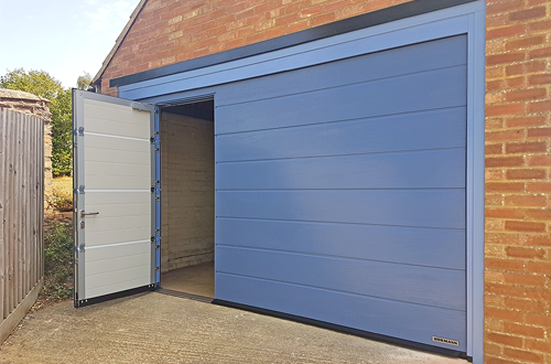 Sectional Garage Door with Inset Wicket Pedestrian Door