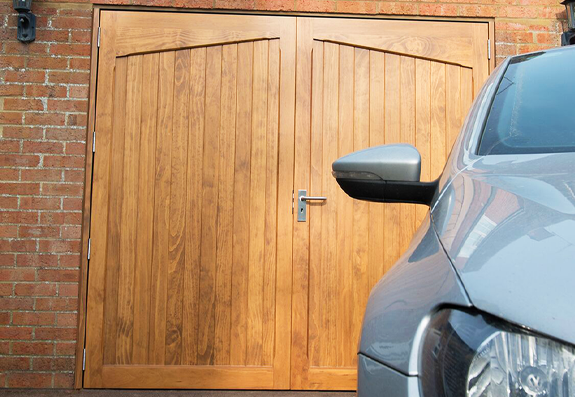 Carteck Side Hinged Garage Door with a Woodgrain Finish