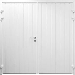 Carteck standard ribbed vertical side hinged garage door