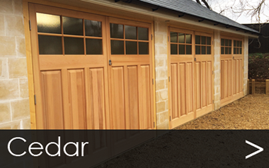 Cedar Side Hinged Garage Doors in Product Catalogue