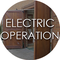 Side Hinged Garage Doors Electric Operation