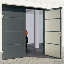 Hormann L Ribbed side hinged garage door