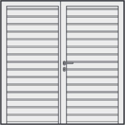 Hormann S Ribbed side hinged garage door