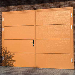 Ryterna Flush side hinged garage doors, bespoke designs available