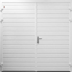 Carteck standard ribbed horizontal side hinged garage door