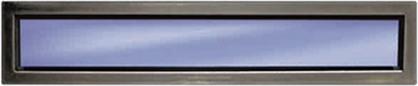 Rectangular, stainless steel, side hinged garage door window