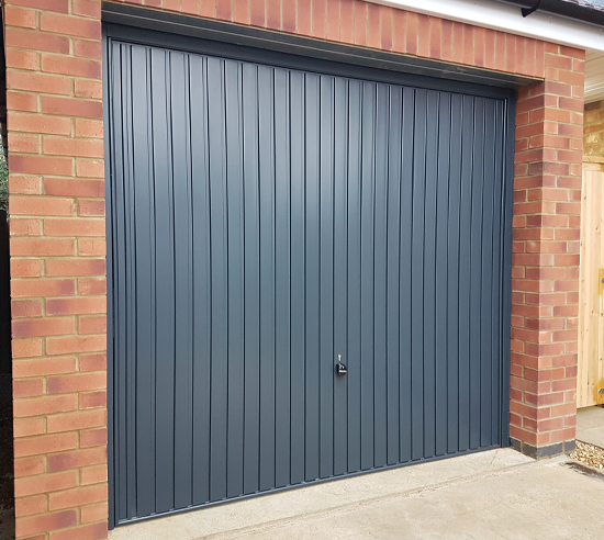 Hormann 2001 Up and Over Garage Door in Anthracite
