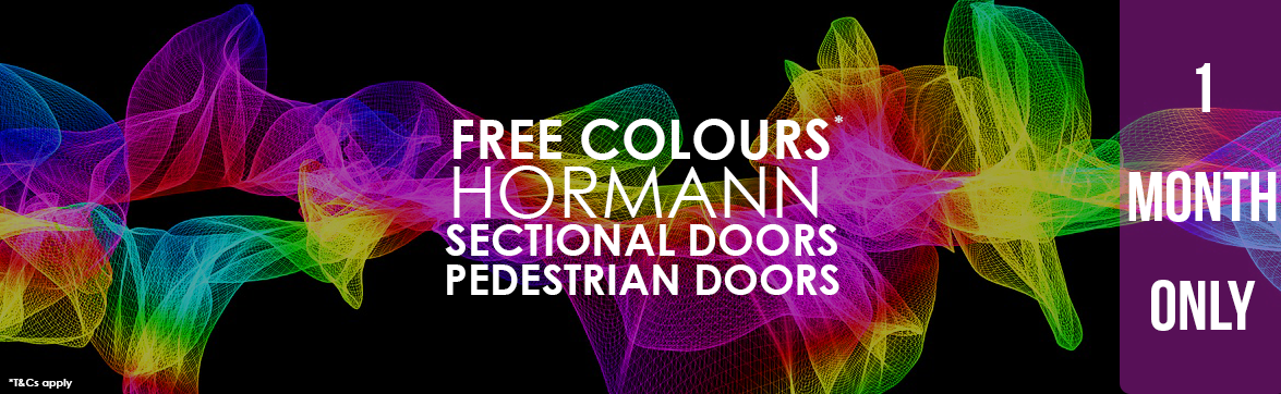 Free Colours for Hormann Sectional and Pedestrian Doors from The Garage Door Centre