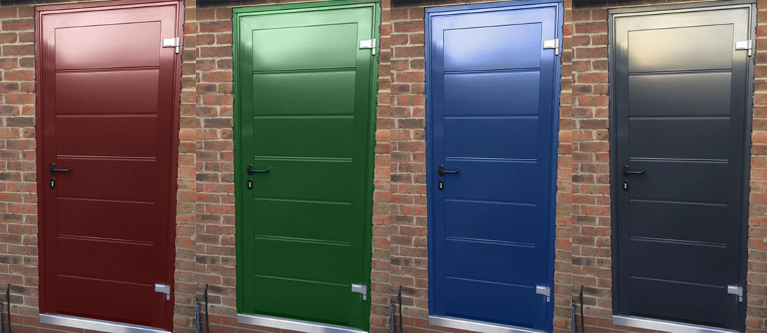 Hormann Pedestrian Door Colours free this month from The Garage Door Centre