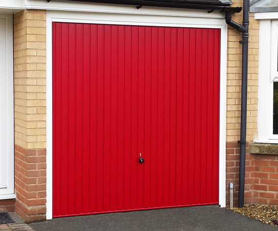 Ruby Red Hormann Steel Up and Over Garage Door
