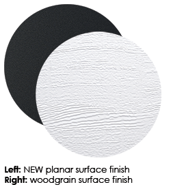 New Hormann Planar surface finish and woodgrain surface finish