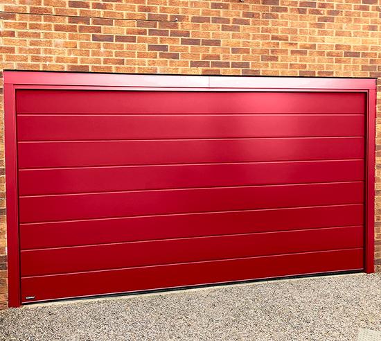 Carteck Sectional garage door in Flame Red