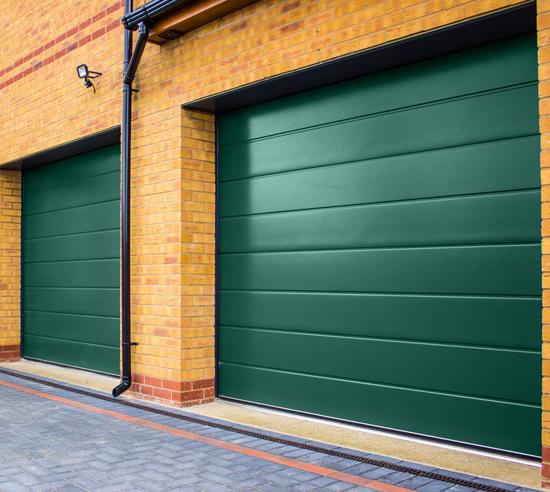Carteck Sectional garage door in Moss Green