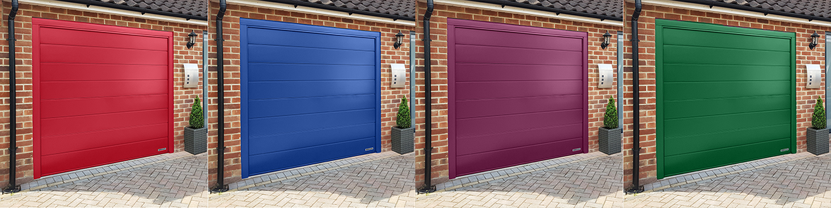 Sectional garage doors available in an extensive number of colours