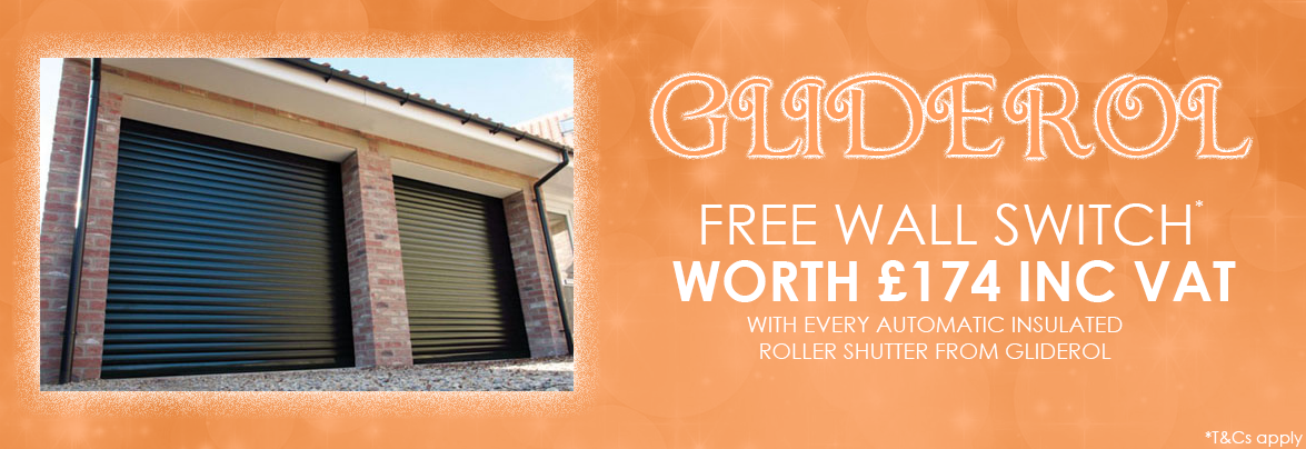 Free Wall Swtich with Gliderol Insulated Roller Garage Doors