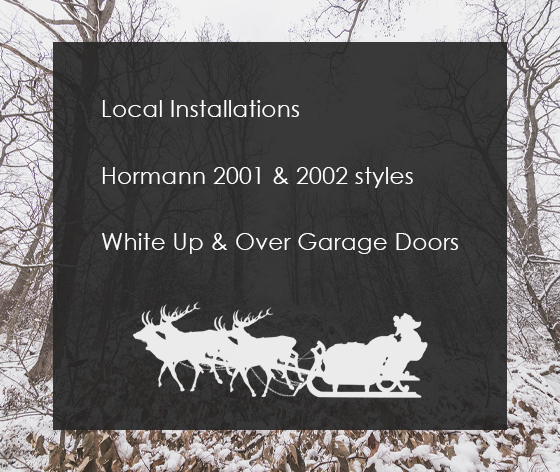 White Up and Over Garage Door Install for £700