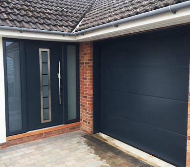Installation of Matching Sectional Garage and Front Doors
