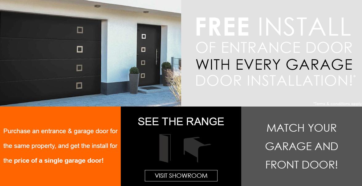Garage Door and Front Entrance Door Install Special Offer
