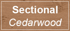 Sectional Cedarwood Timber garage doors