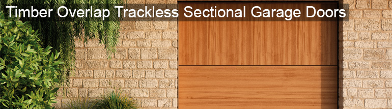 Timber Overlap Trackless Sectional Garage Doors