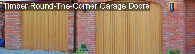 Timber Round the Corner Garage Door, side sectional at The Garage Door Centre
