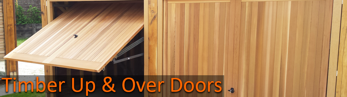 Timber up and over garage doors by The Garage Door Centre