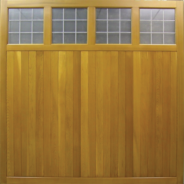 Ashbourne - Cedar Side Hinged Garage Doors
