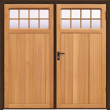 Ahston - Garador Timber Side Hinged Garage Doors